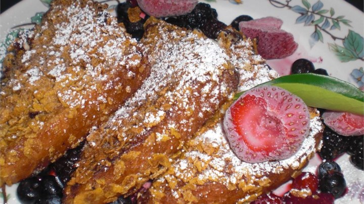 Three Cheese-Stuffed French Toast