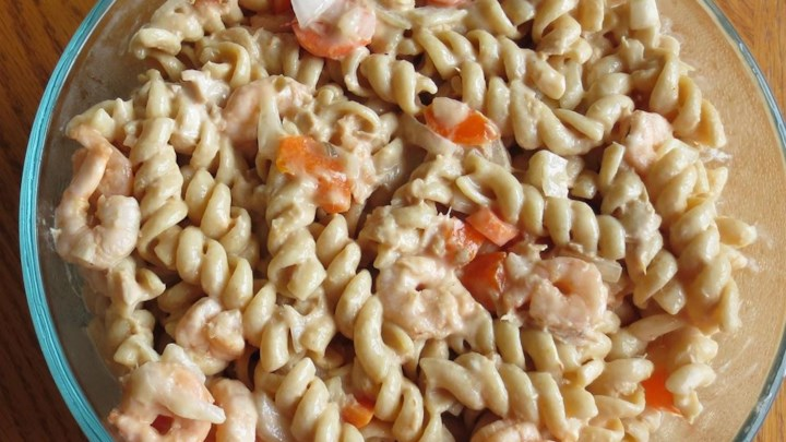 Mom's Seafood Pasta Salad for a Crowd