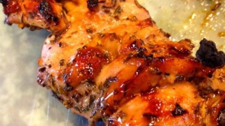 Grilled Tamarind and Orange Glazed Chicken