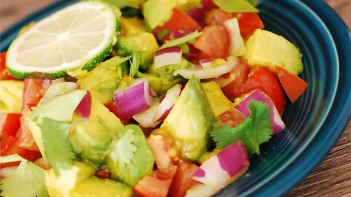Persian-Style Tomato Avocado Salad