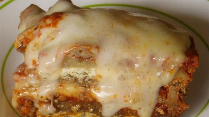 Jorge's Pasta-less Eggplant Lasagna