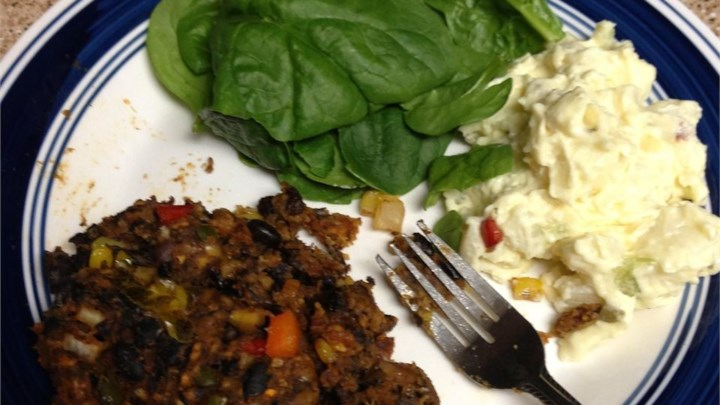 Black Bean Vegetarian Meat Loaf
