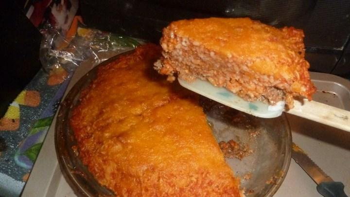 Ground Beef N Rice Pie