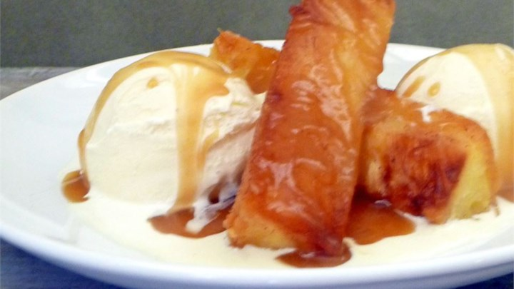 Grilled Pineapple Butterscotch Sundaes