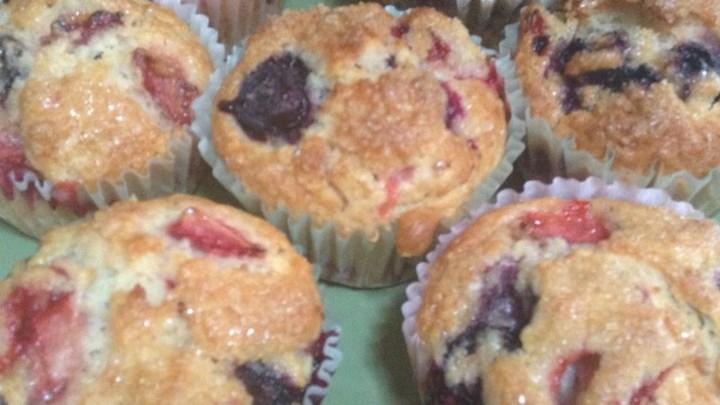 Strawberry-Blueberry Muffins