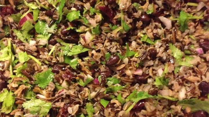 Black Bean and Wild Rice Salad
