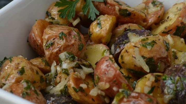 Roasted New Potato Salad With Olives