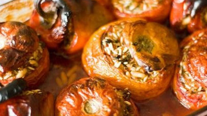Greek Stuffed Tomatoes and Peppers (Yemista)