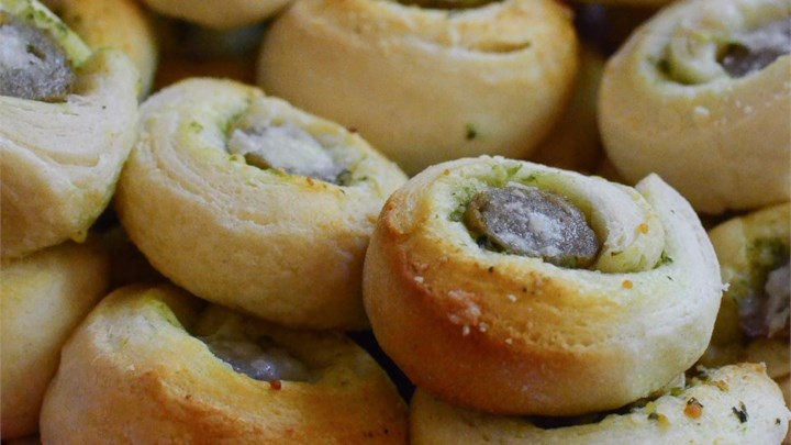 Pesto Sausage Biscuit Bites