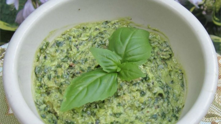 Lighter Basil Pesto