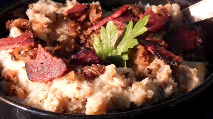 Garlic Mashed Potatoes with Eggplant