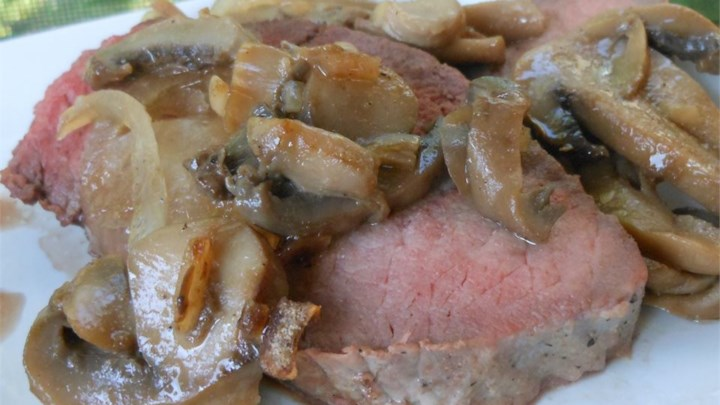 Beef Sirloin Tip Roast with Mushrooms