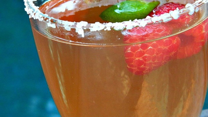 The BEST Raspberry Margarita!