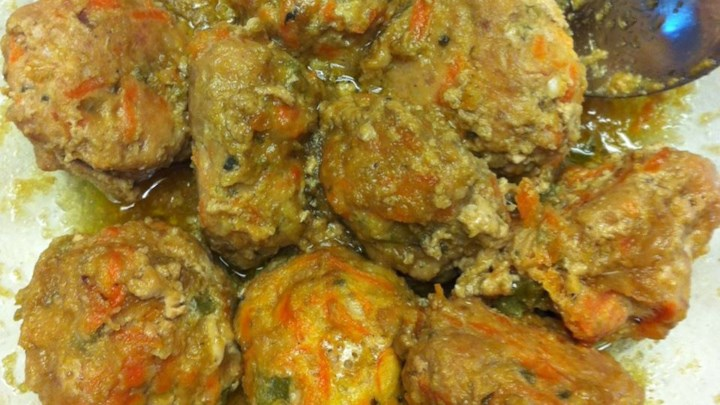 Pork Apple Meatballs