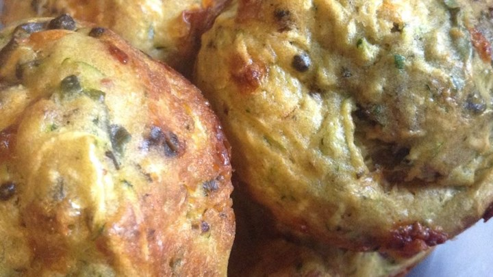 Savory Zucchini Chard Muffins