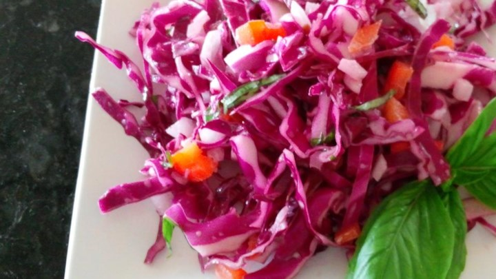Red Cabbage Slaw with a Twist