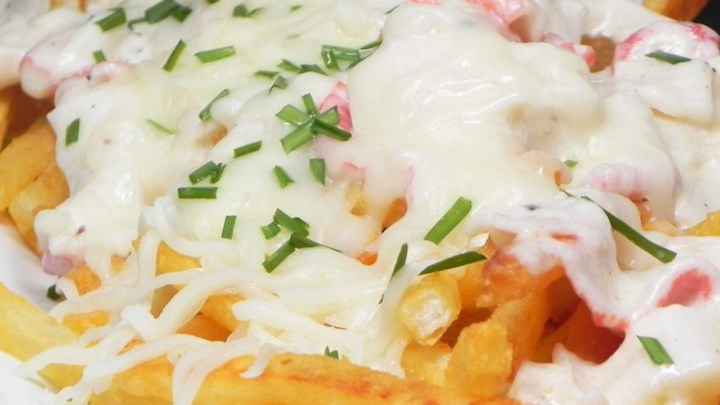 Creamed Hot Lobster Sandwich or Lobster Poutine