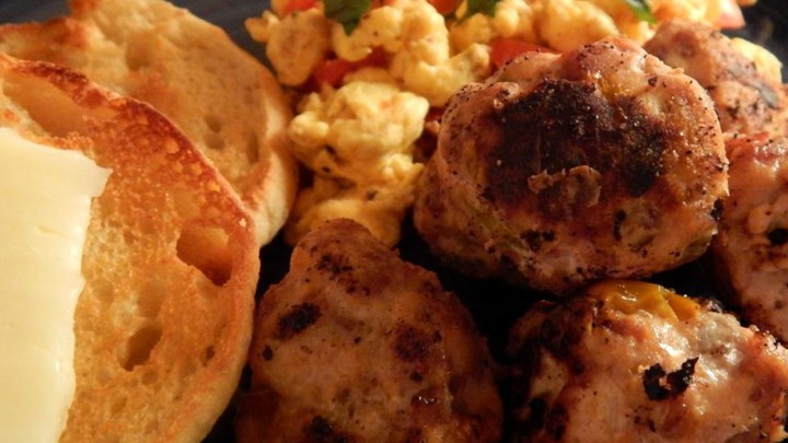 Spicy Breakfast Meatballs