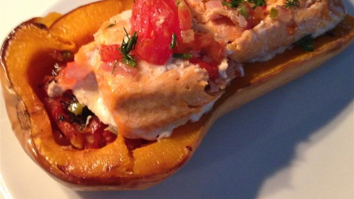 Butternut Squash and Trout Bake with Fresh Salsa