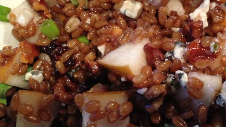 Pear Walnut Wheat Berry Salad