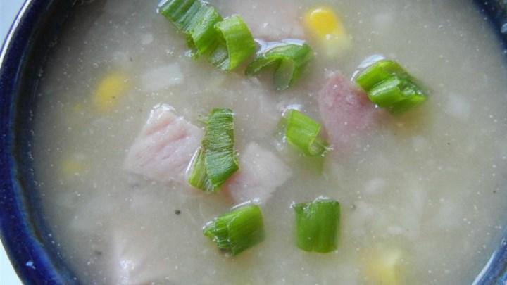 Cream of No Cream Ham and Potato Soup