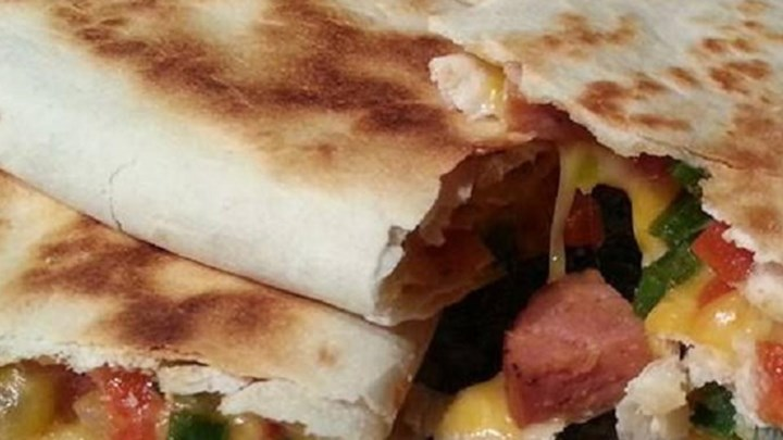 Andouille and Poblano Quesadillas