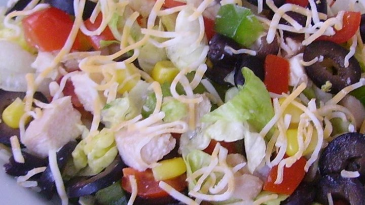 Super Tex-Mex Chicken Chop Salad