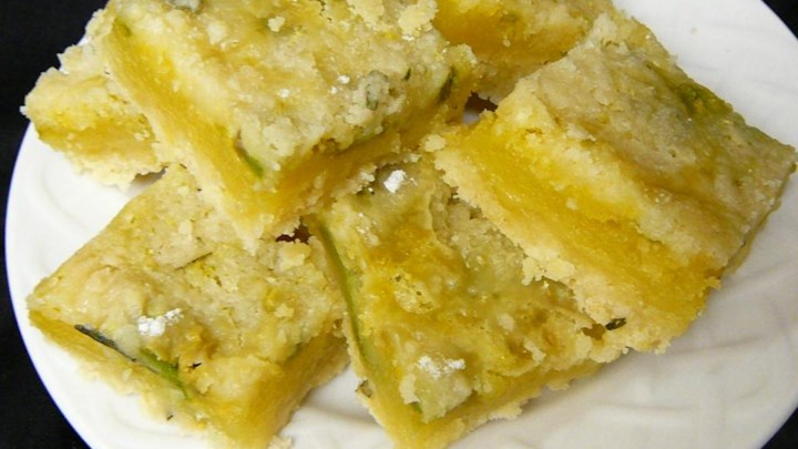 Avocado Rosemary Lime Bars