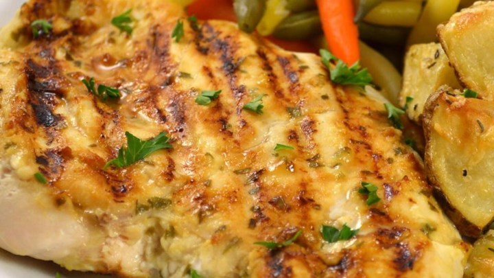 Grilled Tarragon Mustard Chicken