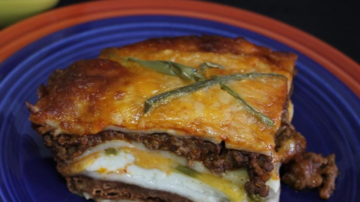 Mexican Lasagna with Cactus