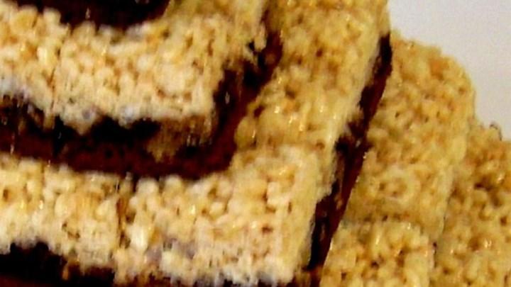 Peanut Butter Rice Krispies® Brownies