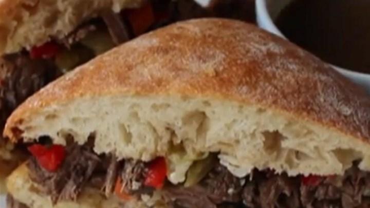 Chicago-Inspired Italian Beef Sandwich