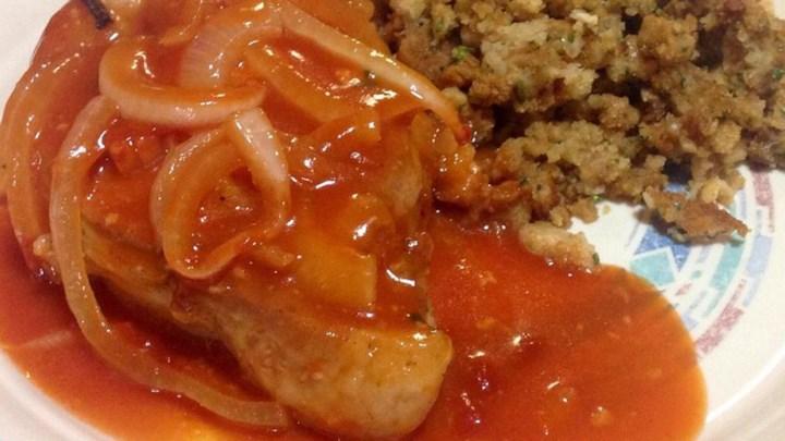 Pork chops tomato paste recipe