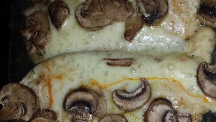 Muenster Chicken and Mushrooms