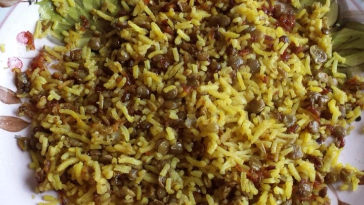Green Lentils and Rice Assyrian Style