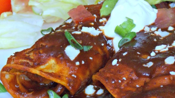 Refried Bean and Cheese Enchiladas