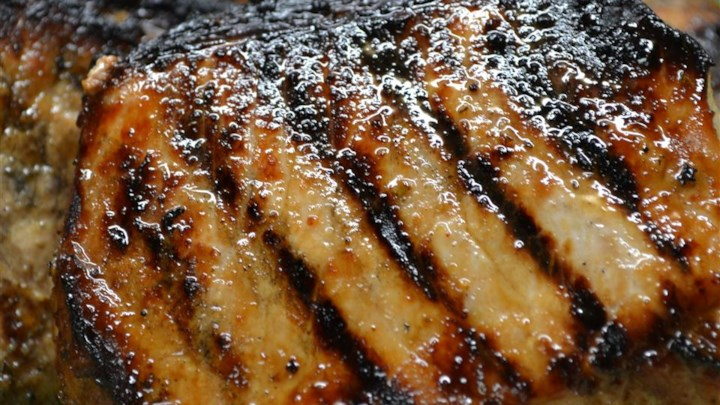 Grilled Jamaican Jerked Pork Loin Chops