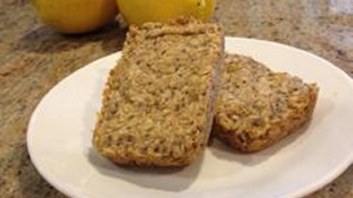 Healthy Lemon Chia Oat Bars