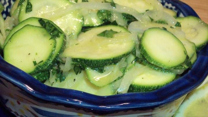 Lemony Zucchini Salad