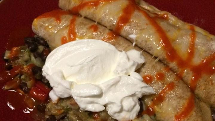 Squash and Zucchini Burritos