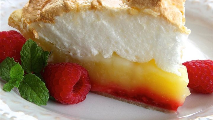 Raspberry Lemon Meringue Pie