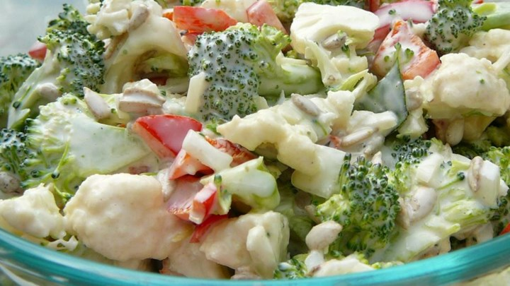 Broccoli Cauliflower Pepita Salad
