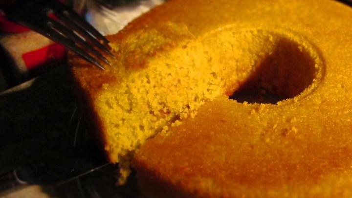 Sweet Cornmeal Cake Brazilian-Style