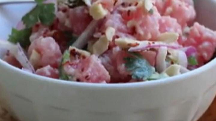 Coconut Cashew Tuna Tartare
