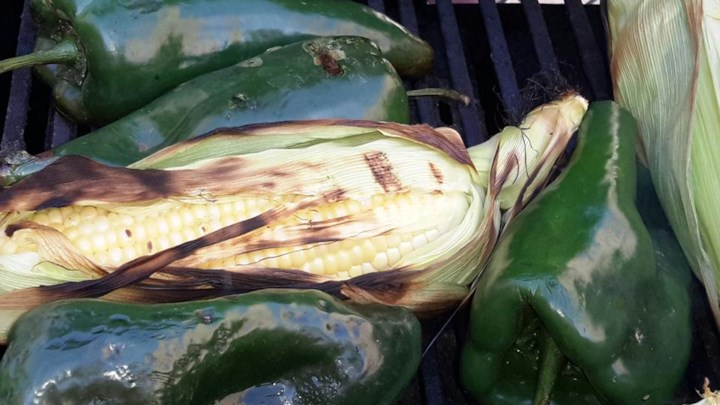 Roasted Corn and Poblanos