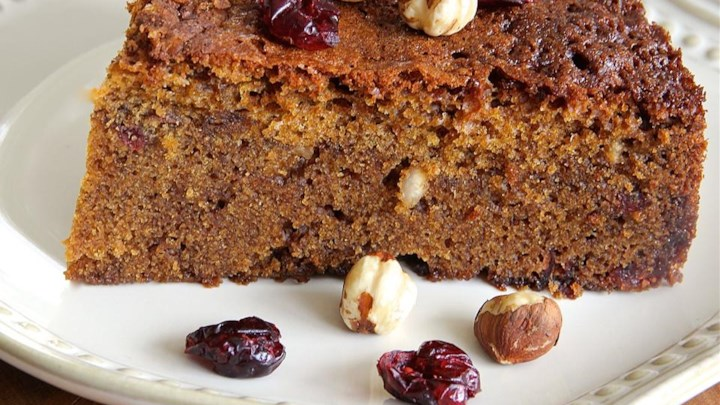 Cranberry-Hazelnut Coffee Cake