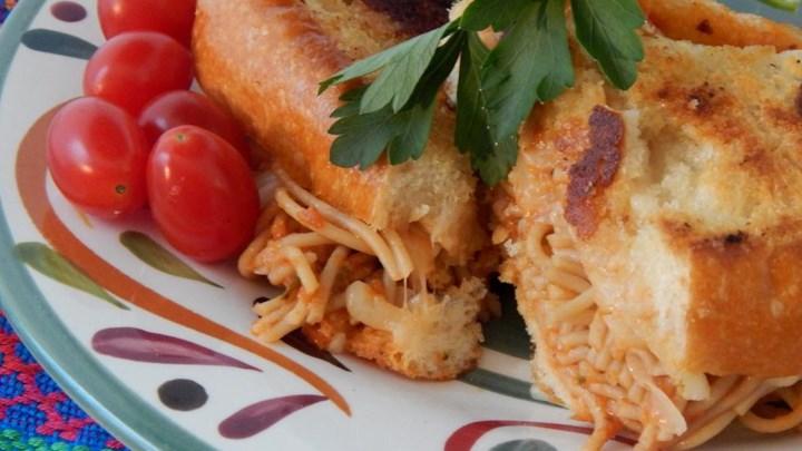Grilled Spaghetti Sandwich