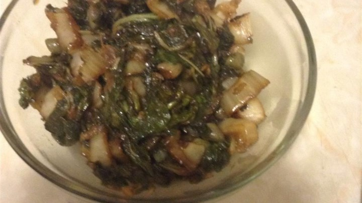 Balsamic Vinegar and Ginger Bok Choy