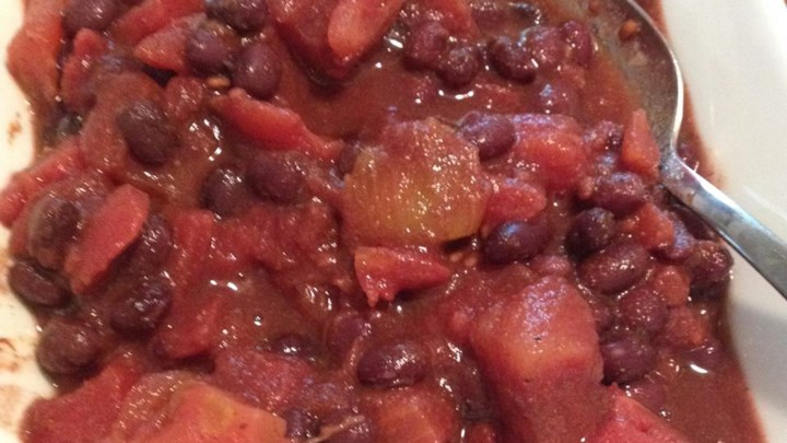 Easy Black Beans and Tomatoes
