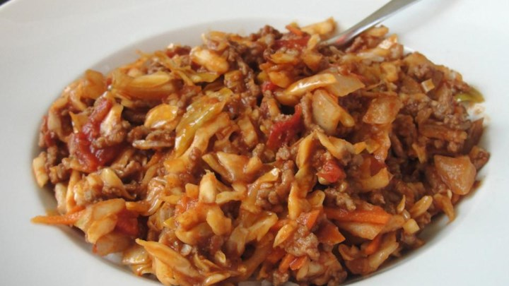 Spicy Unstuffed Cabbage